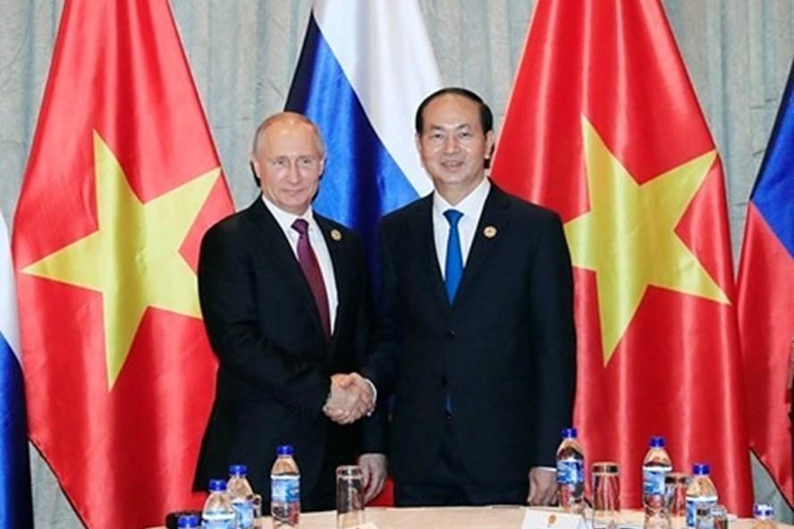 Rencontre entre Trân Dai Quang et Vladimir Putin
