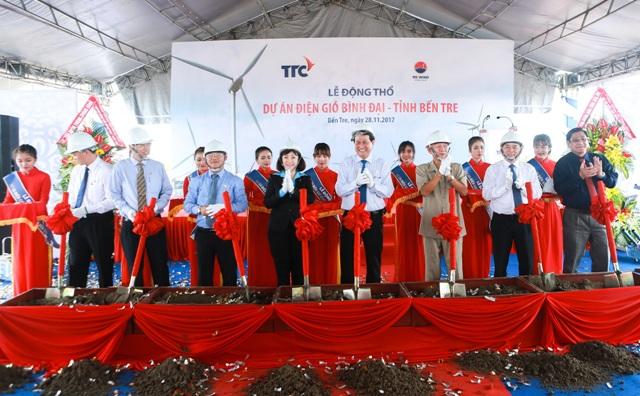 Mise en chantier d'une centrale éolienne de 65 millions de dollars à Bên Tre