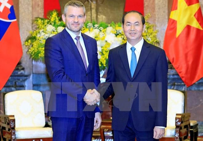 Le président Tran Dai Quang reçoit un vice-PM slovaque