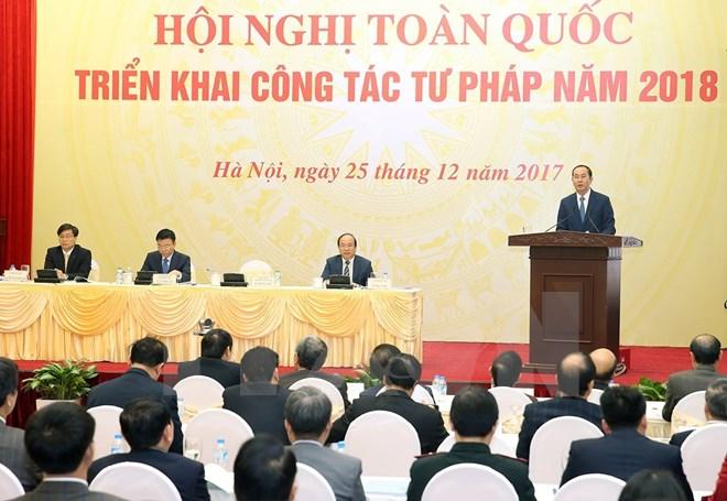 Le président Trân Dai Quang demande de dynamiser la réforme judiciaire