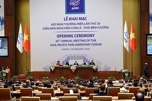 Ouverture de la 26e conférence annuelle du Forum parlementaire Asie-Pacifique