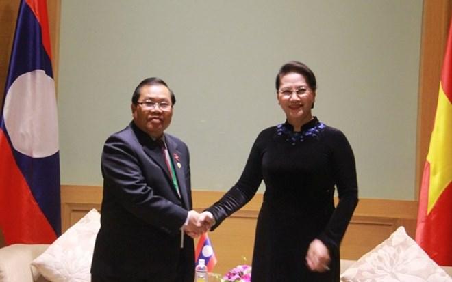 APPF-26 : la présidente de l'AN reçoit des parlementaires marocain, laotien et japonais