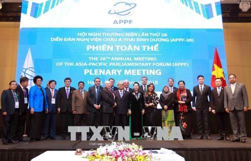 APPF-26 : adoption de la Déclaration de Hanoï sur le partenariat parlementaire Asie-Pacifique
