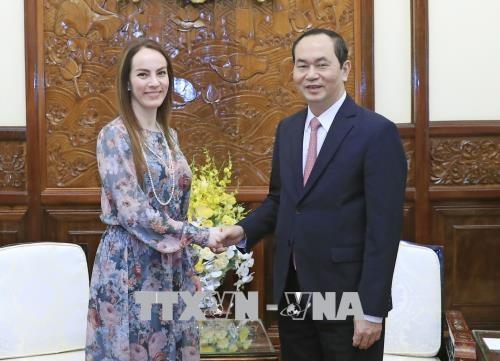 Le président Trân Dai Quang reçoit la présidente de l'UIP