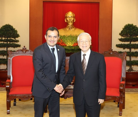 Nguyên Phu Trong appelle à renforcer les relations entre le Vietnam et le Mexique