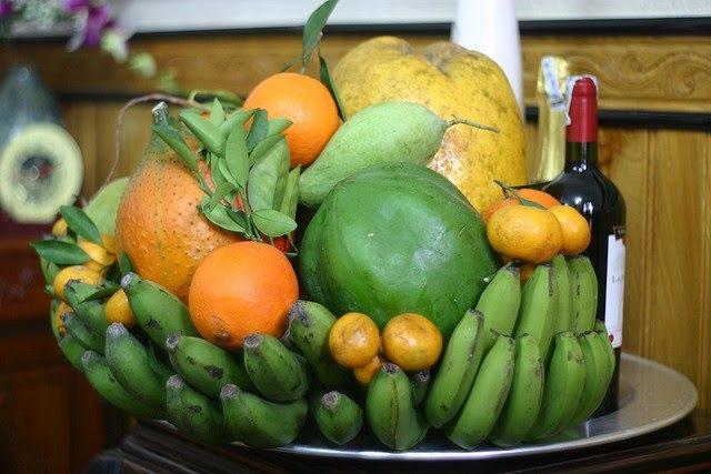 Le plateau de cinq fruits à offrir aux ancêtres lors du Têt traditionnel