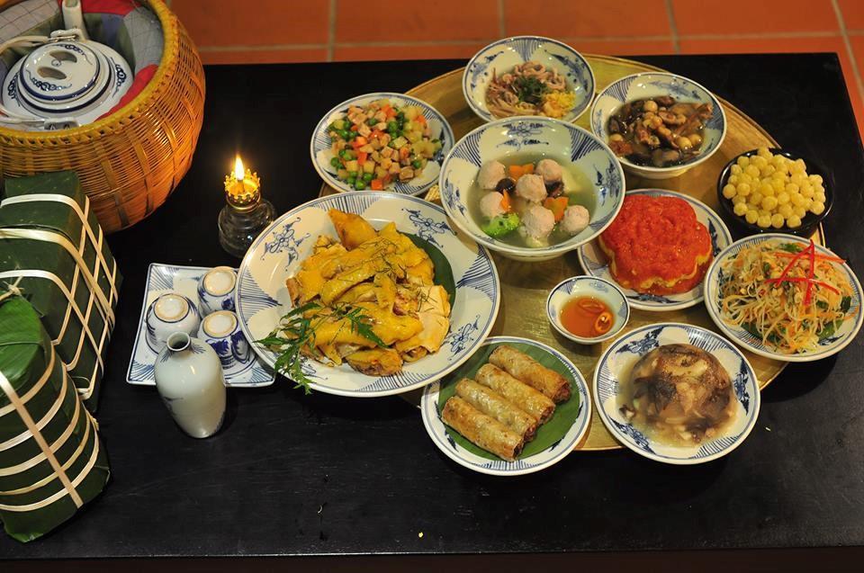 La beauté culturelle dans les plats du Tet