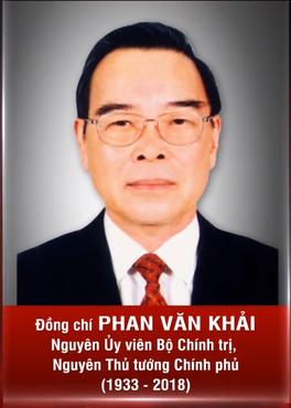 Biographie du camarade Phan Van Khai