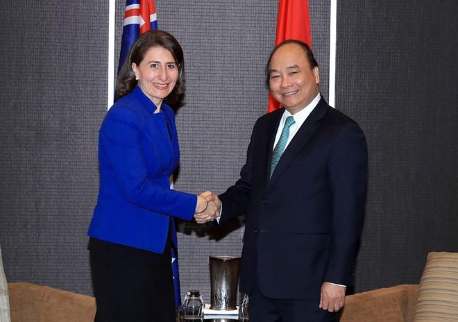 Le Premier ministre Nguyên Xuân Phuc rencontre des dirigeants de la Nouvelle-Galles du Sud