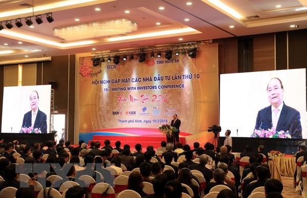 Nguyen Xuan Phuc à la conférence «Rencontre des investisseurs dans la province de Nghe An»
