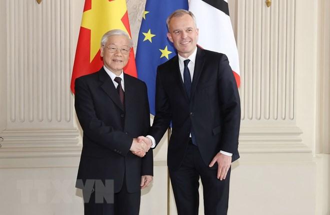 Entrevue entre le secrétaire général du PCV Nguyên Phu Trong et le président de l