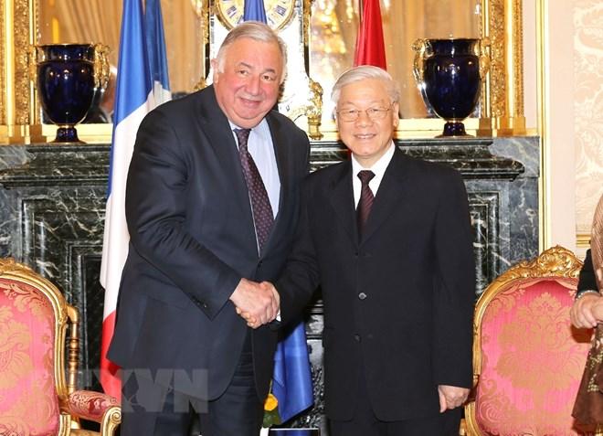 Entrevue Nguyen Phu Trong – Gérard Larcher