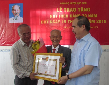 HCM-V: remise de l'Insigne pour les 70 ans d