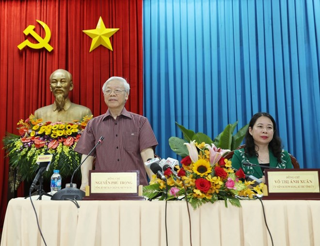 Le secrétaire général du Parti en tournée à An Giang