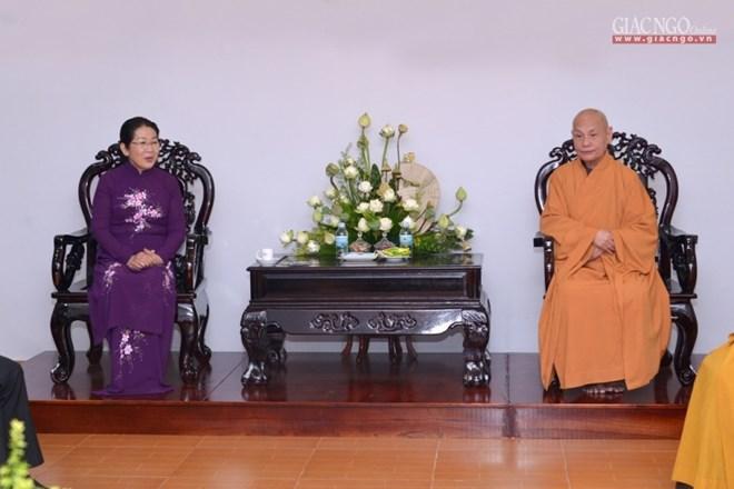 2562e anniversaire de Bouddha: Félicitations à des établissements bouddhiques à Hô Chi Minh-Ville