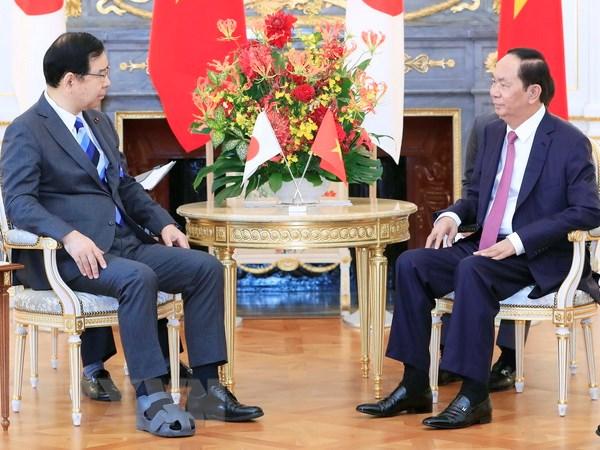 Vietnam-Japon: Tran Dai Quang appelle à intensifier les relations entre les deux partis communistes
