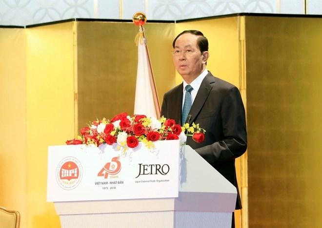 Le président Trân Dai Quang reçoit le président de l'Alliance parlementaire d'amitié Japon-Vietnam