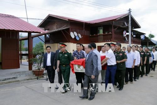 Cérémonie de rapatriement des restes de soldats vietnamiens tombés au Laos