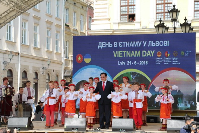 Impressionnante journée vietnamienne en Ukraine