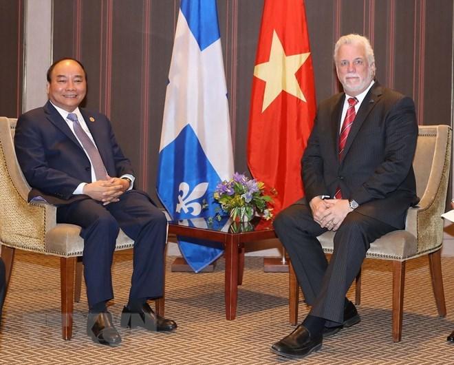 Le PM Nguyen Xuan Phuc rencontre le Premier ministre de l'Etat du Québec