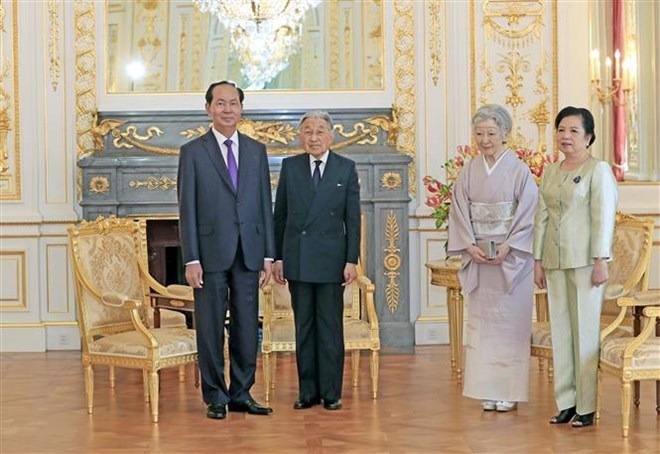 Le président Tran Dai Quang termine sa visite d