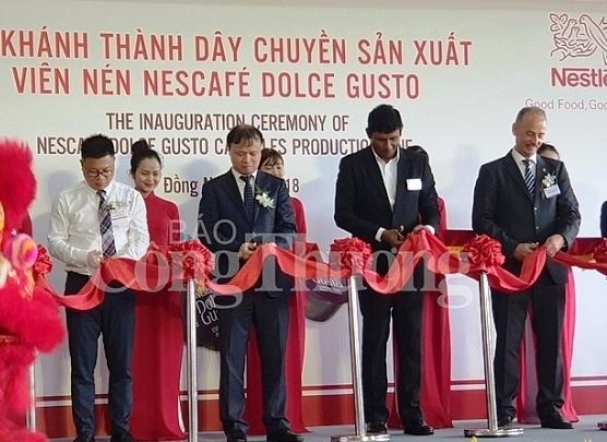 Nestlé inaugure une chaîne de production de capsules de café à Dông Nai