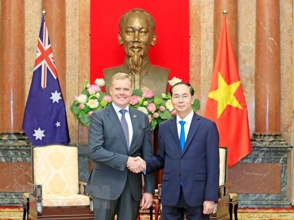 Le président Trân Dai Quang reçoit le président de la Chambre des représentants australienne