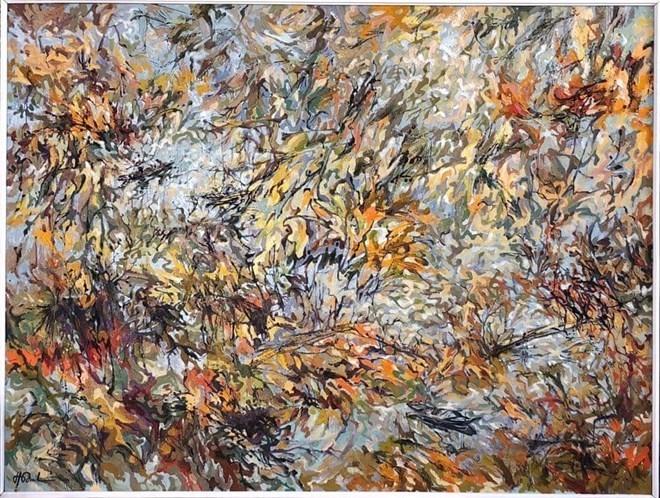 Une peinture vietnamienne exposée au Palais Velli en Italie