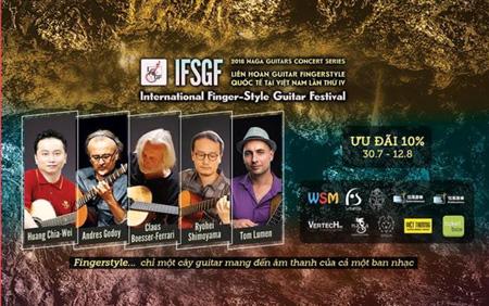 Bientôt le 4ème Festival international de guitare fingerstyle au Vietnam