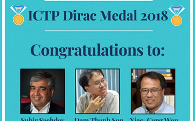 La Médaille Dirac 2018 attribuée à Dam Thanh Son