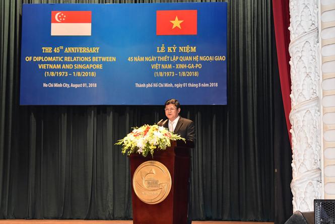 Singapour investit plus de 10 milliards de dollars à Ho Chi Minh-Ville