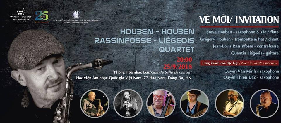Deux concerts de jazz aux couleurs belges au Vietnam