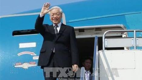 Nguyen Phu Trong attendu en Russie
