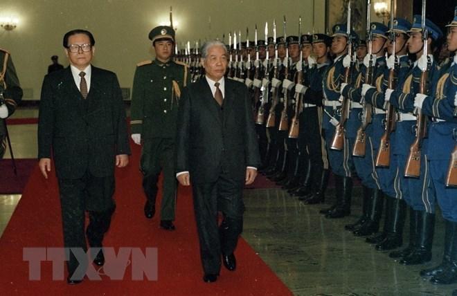 Le secrétaire général du Parti Do Muoi et ses traces dans les activités extérieures