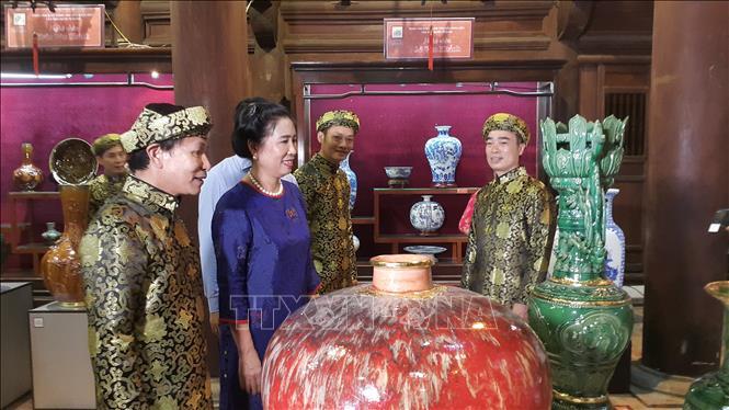 La céramique de Bat Trang à l'honneur au Temple de la Littérature