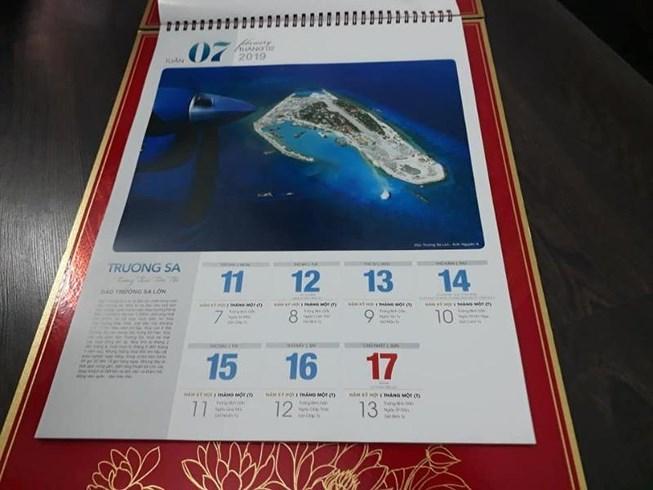 Publication d'un calendrier spécial sur Truong Sa