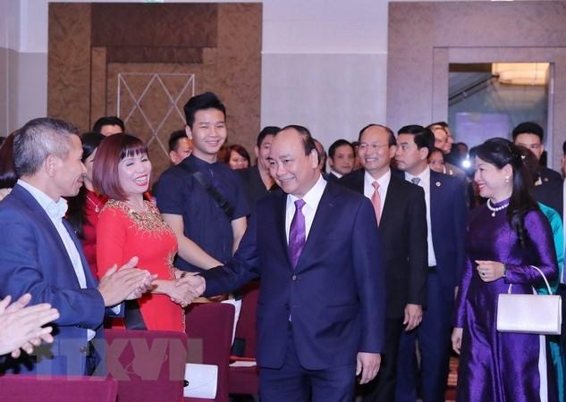 Le Premier ministre Nguyên Xuân Phuc rencontre des Vietnamiens en Autriche
