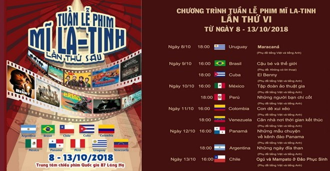 La 6e Semaine du film latino-américain s