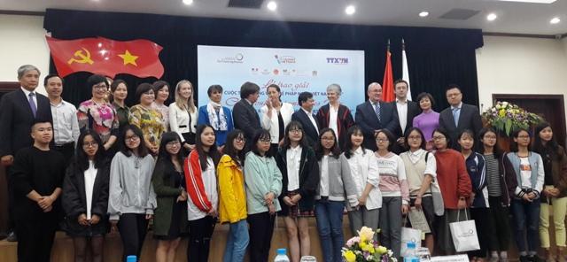 """Cérémonie de remise des prix du concours """"Jeunes Reporters Francophones-Vietnam 2018"""""""