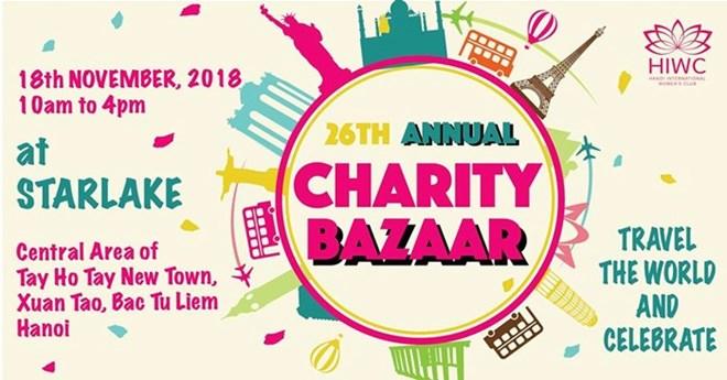 Bientôt la foire de charité HIWC Bazaar 2018 à Hanoi