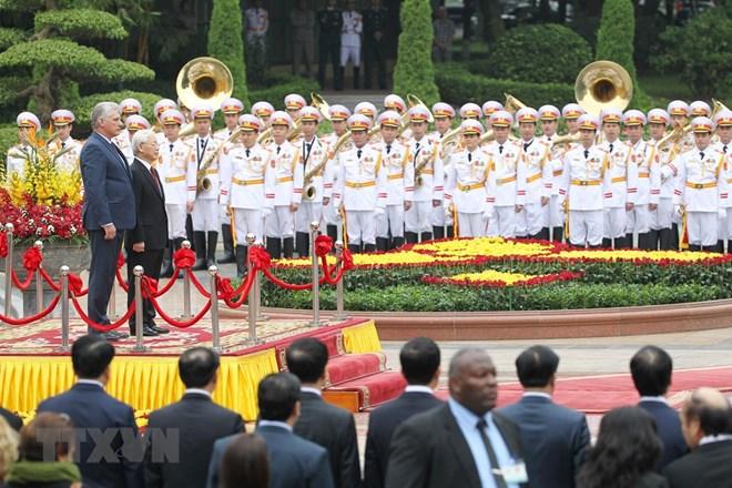 Cérémonie d'accueil en l'honneur du président du Conseil d