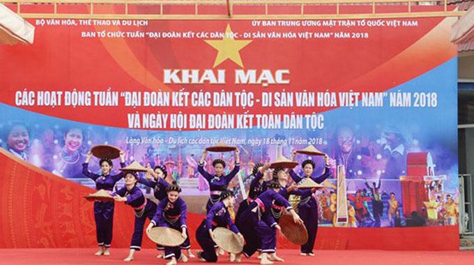 """Ouverture de la Semaine """"Grande solidarité des ethnies – Patrimoine culturel du Vietnam"""" 2018"""