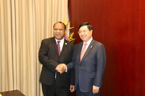 APEC 2018: Renforcer les relations Vietnam - Papouasie-Nouvelle-Guinée