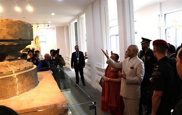 Le président indien visite le musée de sculpture Cham de Da Nang et le sanctuaire de My Son