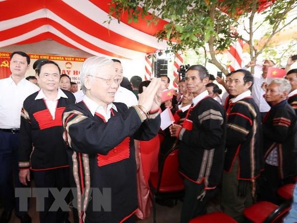 M. Nguyen Phu Trong à la Fête de la grande union nationale à Dak Lak