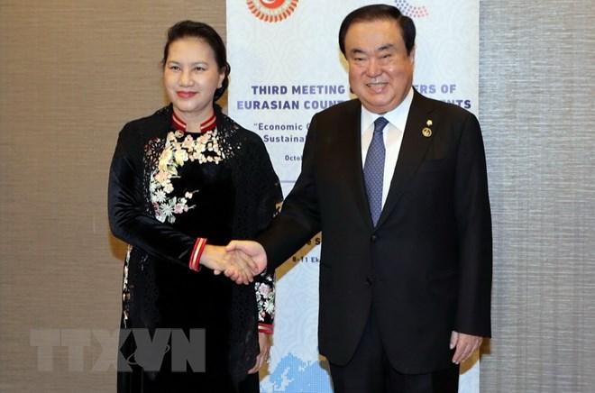 Développement du partenariat stratégique avec la République de Corée