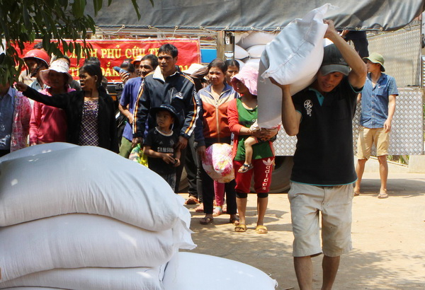 Octroi de riz à la province de Thanh Hoa