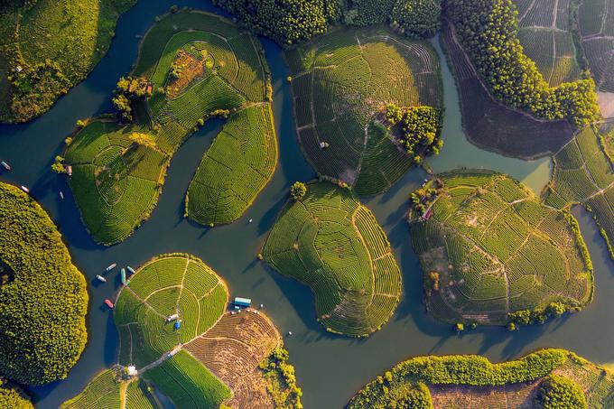 De beaux paysages du Vietnam vu du ciel