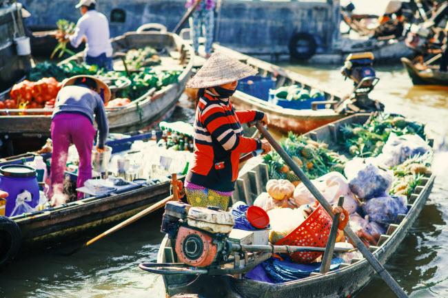 Phong Dien (Can Tho) parmi les marchés flottants les plus attrayants en Asie