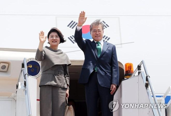 Le président sud-coréen entamme sa visite d